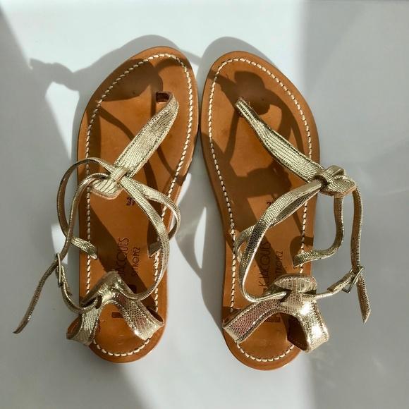 0d658c1c331f K Jacques St. Tropez Shoes - K. Jacques St Tropez Buffon Metallic Sandals